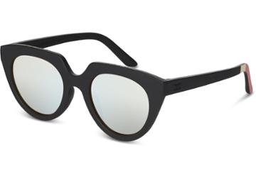Toms Toms Lourdes Matte Black Sunglasses With Mother Of Pearl Mirror Lens