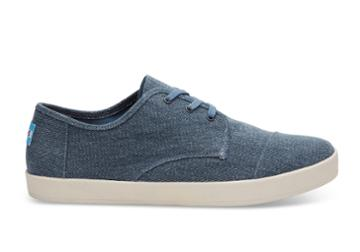 Toms Toms Slate Blue Coated Twill Men's Paseo Sneakers Shoes - Size 14