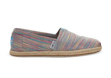 Toms Toms Blue Aster Space Dye Women's Espadrilles Shoes - Size 9.5