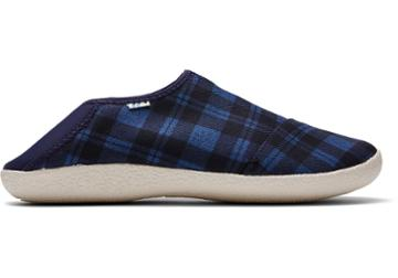 Toms Navy Twill Check Men's Rodeo Slippers