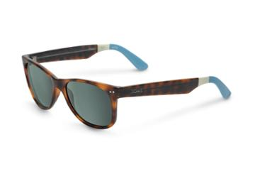 Toms Toms Beachmaster Tortoise Sunglasses With Green Grey Lens