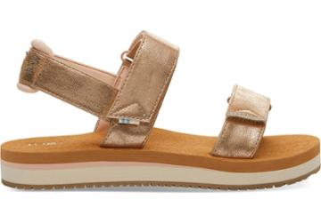 Toms Champagne Shimmer Women's Ray Sandals