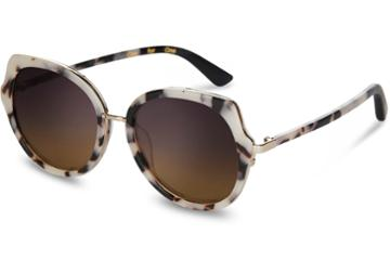 Toms Toms Lottie Tokyo Tortoise Sunglasses With Violet Brown Gradient Lens