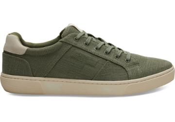 Toms Lichen Green Heritage Canvas Mens Leandro Sneakers