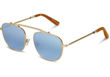 Toms Toms Riley Satin Gold Sunglasses With Olive Gradient Lens