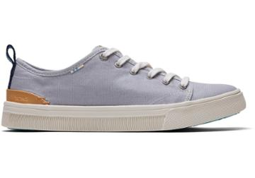 Toms Drizzle Grey Canvas Women's Trvl Lite Low Sneakers