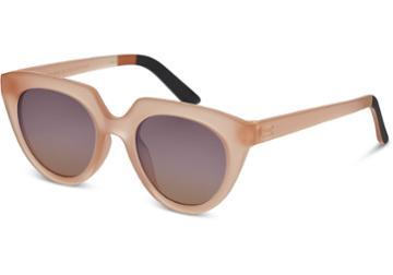 Toms Toms Lourdes Matte Grapefruit Sunglasses With Violet Brown Gradient Lens