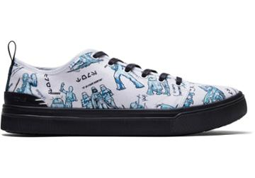 Toms White Star Wars Character Sketch Print Men's Trvl Lite Low Sneakers