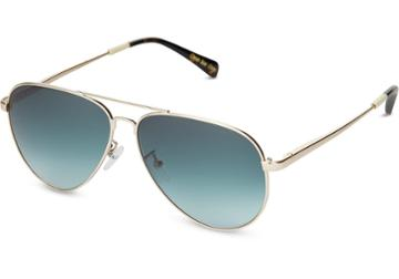 Toms Toms Maverick 301 Shiny Gold Sunglasses With Olive Gradient Lens