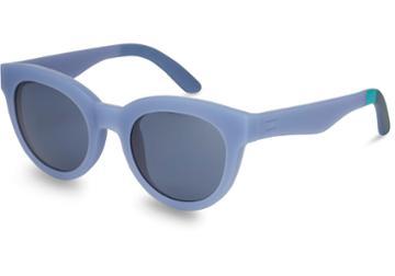 Toms Traveler By Toms Florentin Matte Infinity Blue Solid Indigo Lens Sunglasses With Indigo Blue Lens