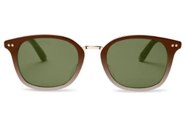 Toms Toms Barron Honey Fade Sunglasses With Olive Gradient Lens