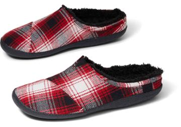 Toms Red Plaid Men's Berkeley Slippers
