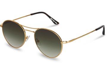 Toms Toms Melrose Satin Gold Olive Gradient Sunglasses With Olive Gradient Lens