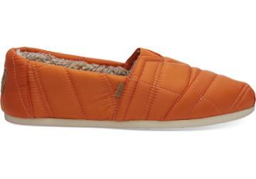 Toms Burnt Orange Quilted Nylon Men's Classics