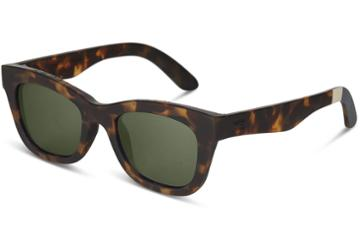 Toms Traveler By Toms Paloma Matte Blonde Tortoise Polarized Sunglasses With Olive Gradient Polarized Lens