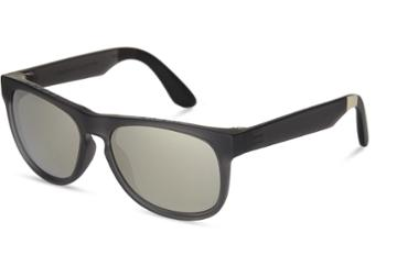 Toms Toms Manu Matte Pewter Sunglasses With Chrome Flash Mirror Lens