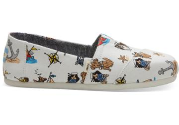 Toms Nautical Dogs Canvas Women's Classics