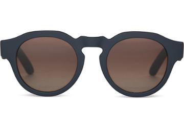 Toms Toms Bryton Matte Blueberry Sunglasses With Solid Brown Lens