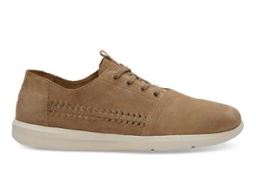 Toms Toms Toffee Woven Suede Men's Del Rey Sneakers Shoes - Size 9.5