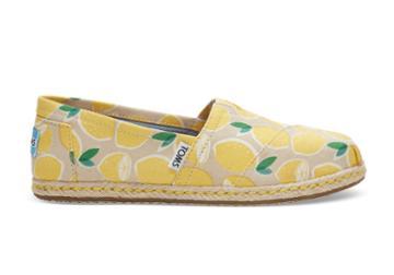 Toms Toms Yellow Lemons Women's Espadrilles Shoes - Size 9