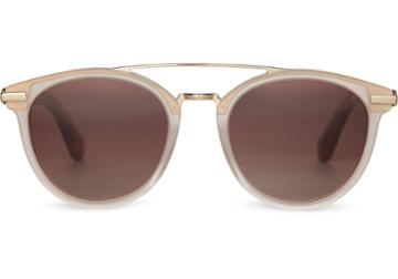 Toms Toms Harlan Matte Champagne Sunglasses With Brown Gradient Lens