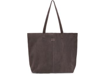Toms Toms Charcoal Suede Embroidered Cosmopolitan Tote Bag