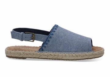 Toms Toms Blue Slub Chambray Women's Clara Espadrilles Shoes - Size 6.5