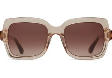 Toms Toms Mackenzie Champagne Crystal Sunglasses With Brown Gradient Lens