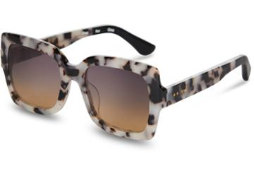Toms Toms Mackenzie Tokyo Tortoise Sunglasses With Violet Brown Gradient Lens