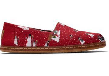 Toms Red Save The Children Cozy Snowmen Women's Classics
