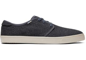 Toms Forged Iron Grey Felt Men's Carlo Sneakers Topanga Collection