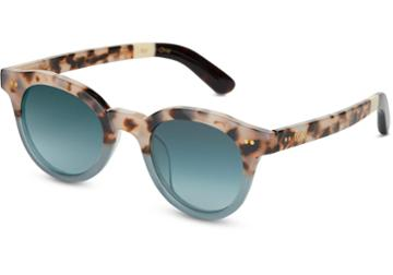 Toms Toms Fin Cream Tortoise Teal Fade Sunglasses With Turquoise Gradient Lens