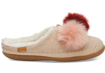 Toms Rose Cloud Pom Pom Women's Ivy Slippers