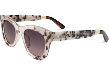Toms Toms Chelsea Black White Lamination Sunglasses With Violet Brown Gradient Lens
