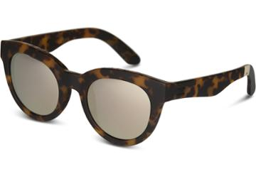 Toms Toms Florentin Matte Blonde Tortoise Sunglasses With Mother Of Pearl Mirror Lens