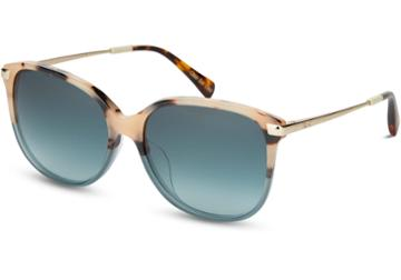 Toms Toms Sandela 201 Cream Tortoise Teal Fade Sunglasses With Turquoise Gradient Lens