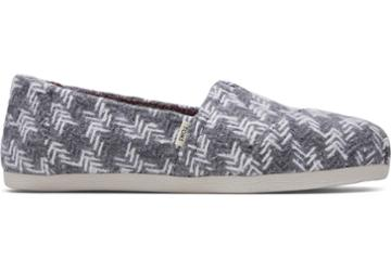 Toms Grey And White Check Print Women's Classics