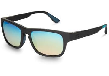 Toms Traveler By Toms Women's Eben Matte Black Rainbow Mirror Lens Sunglasses With Chrome Flash Mirror Lens