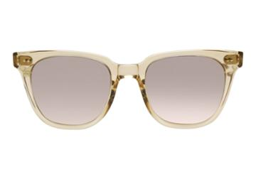 Toms Toms Memphis Champagne Crystal Sunglasses With Solid Brown Lens