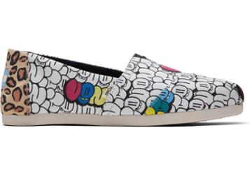 Toms Bubble Graffiti Printed Canvas Women's Classics Ft. Ortholite