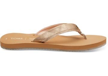 Toms Champage Shimmer Women's Gabi Flip-flop Sandals