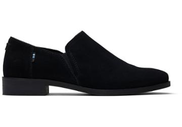 Toms Black Suede Women's Shaye Low Booties