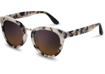 Toms Toms Yvette Tokyo Tortoise Sunglasses With Violet Brown Gradient Lens