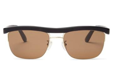 Toms Toms Locke Matte Black Grey Grain Polarized Sunglasses With Solid Brown Lens