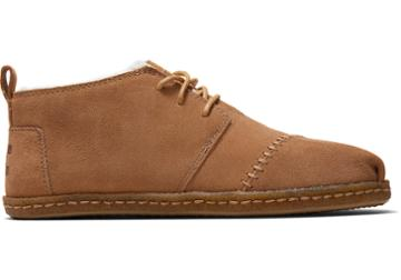 Toms Toffee Suede Crepe And Shearling Women's Botas