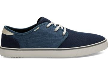 Toms Navy And Mallard Blue Heritage Canvas Mens Carlo Sneakers Topanga Collection