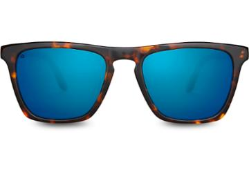 Toms Toms Dawson Whiskey Tortoise Discoverist Sunglasses With Deep Blue Mirror Lens