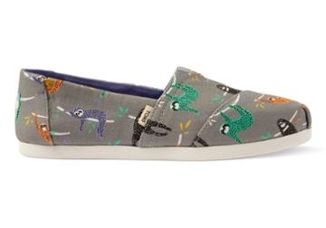 Toms Sloths Canvas Women's Classics Ft. Ortholite