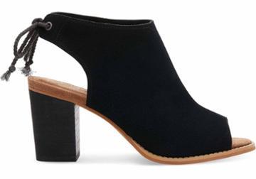 Toms Toms Black Suede Women's Elba Booties - Size 6