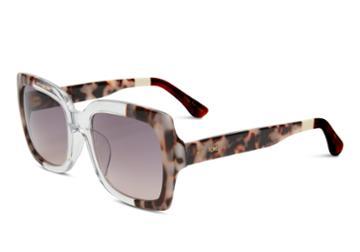 Toms Toms Mackenzie Black White Lamination Sunglasses With Violet Brown Gradient Lens